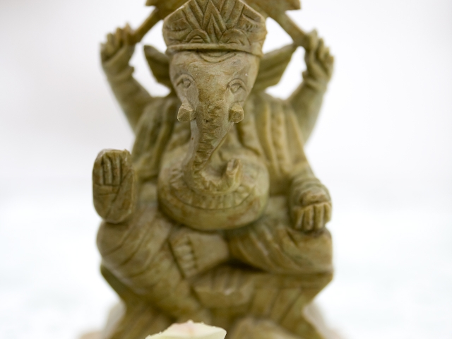 Ganesh with Flower Offering